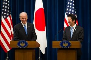 Vice President Biden Addresses Media with Japan's PM Abe