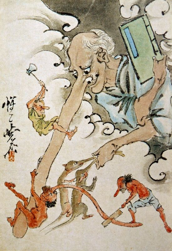 Folklore and Art of Japan: Kyosai, the Spirit World, Tengu and Impact of Shintoism